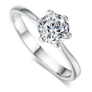 1 Carat  Zirconia Sterling Silver Ring